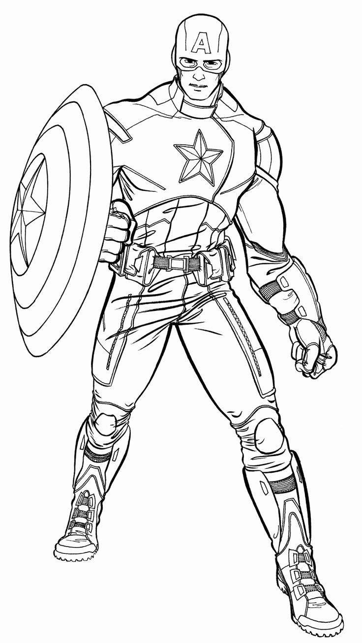 28 Captain America Coloring Page in 2020 (With images ...