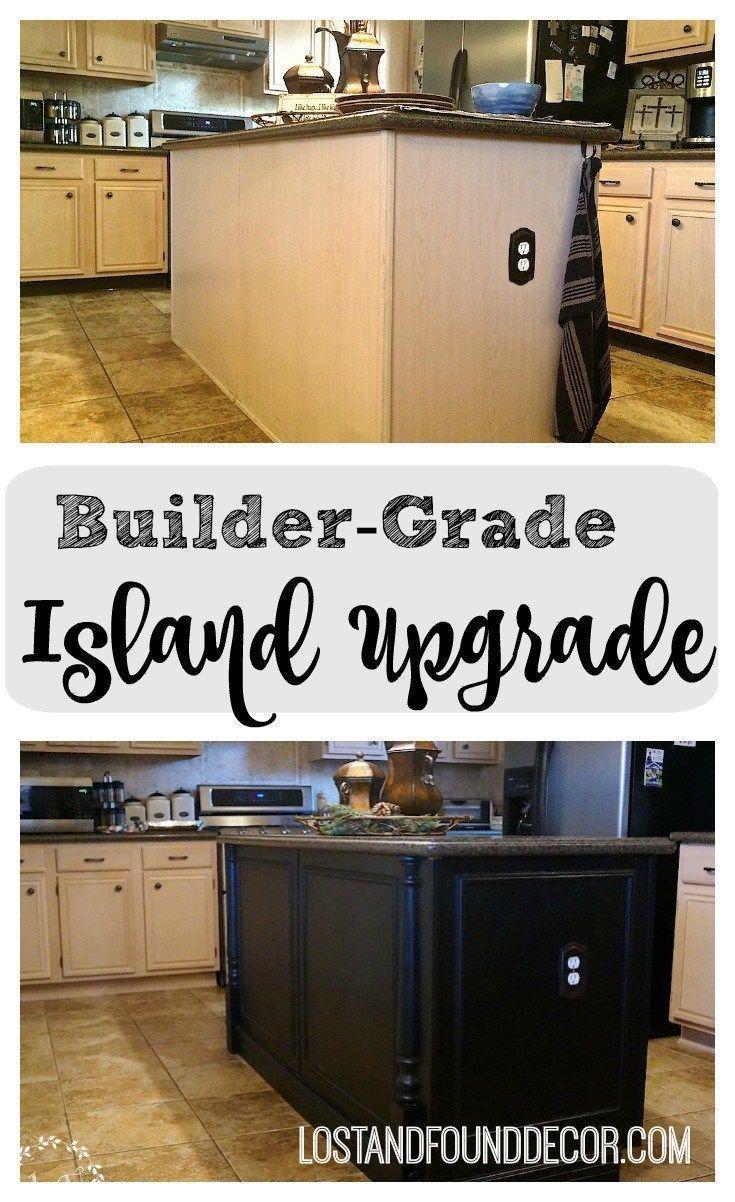 Builder Grade Kitchen Island Upgrade Kitchen Island Makeover Kitchen Island Upgrade Builder Grade Kitchen