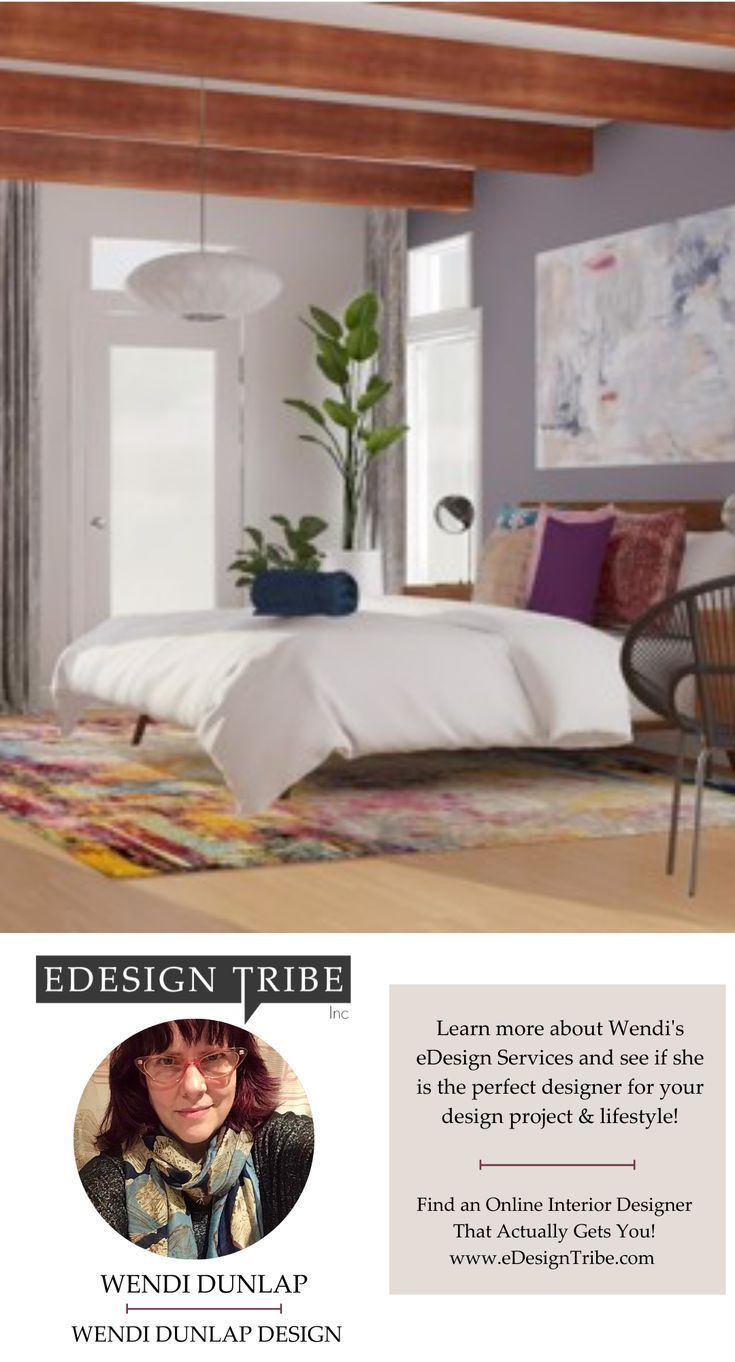 I'd love to use my skills to enhance your space and make your life better! Contact me or check out my available design services to see what I can do for you!  #edesigntribe #edesign #bredroom #masterbedroom #contemporary #modern