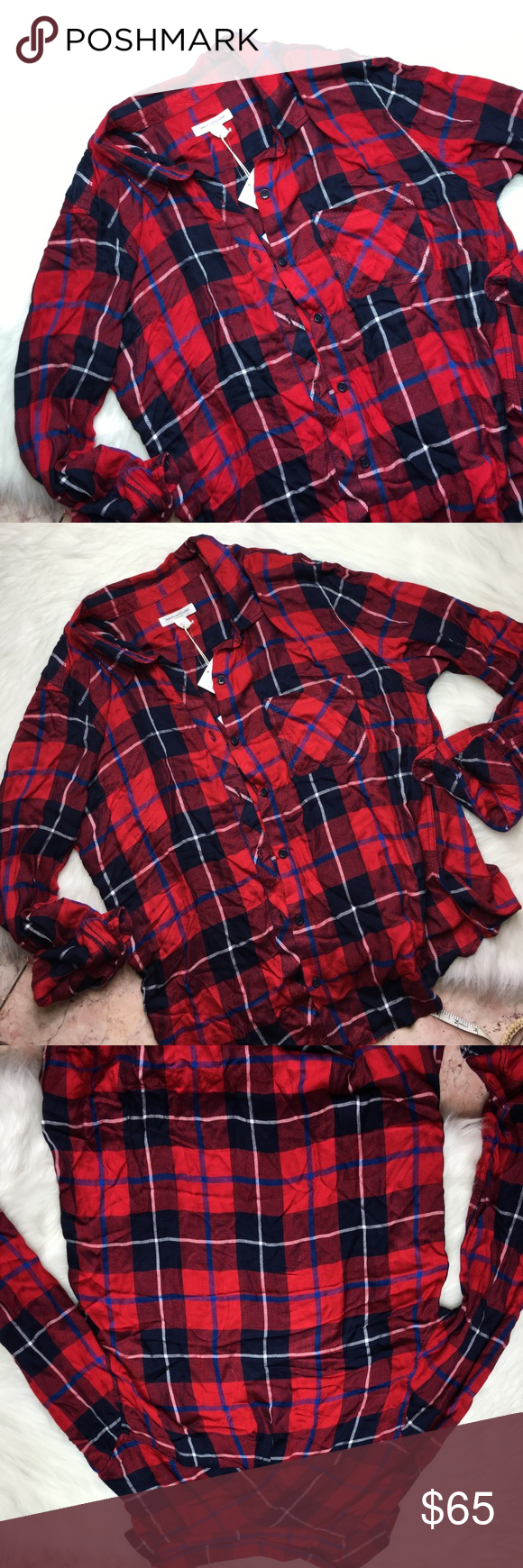 Red flannel shirts  Beach lunch lounge red flannel shirt size l nwt  Beach lunch Red