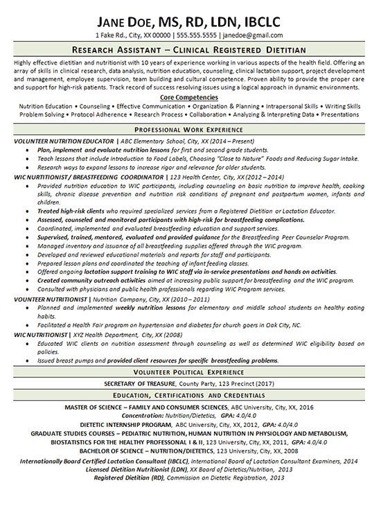 apps development pinwire  clinical dietitian resume