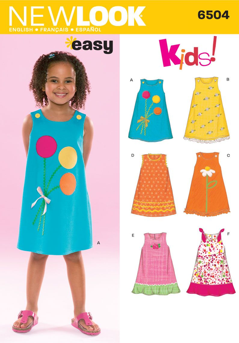 Child Dress Sewing Pattern 6504 New Look Baby Clothes