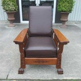 Antiques By Design - Paw Foot Victorian Oak Morris Reclining Chair & Antiques By Design - Paw Foot Victorian Oak Morris Reclining Chair ... islam-shia.org