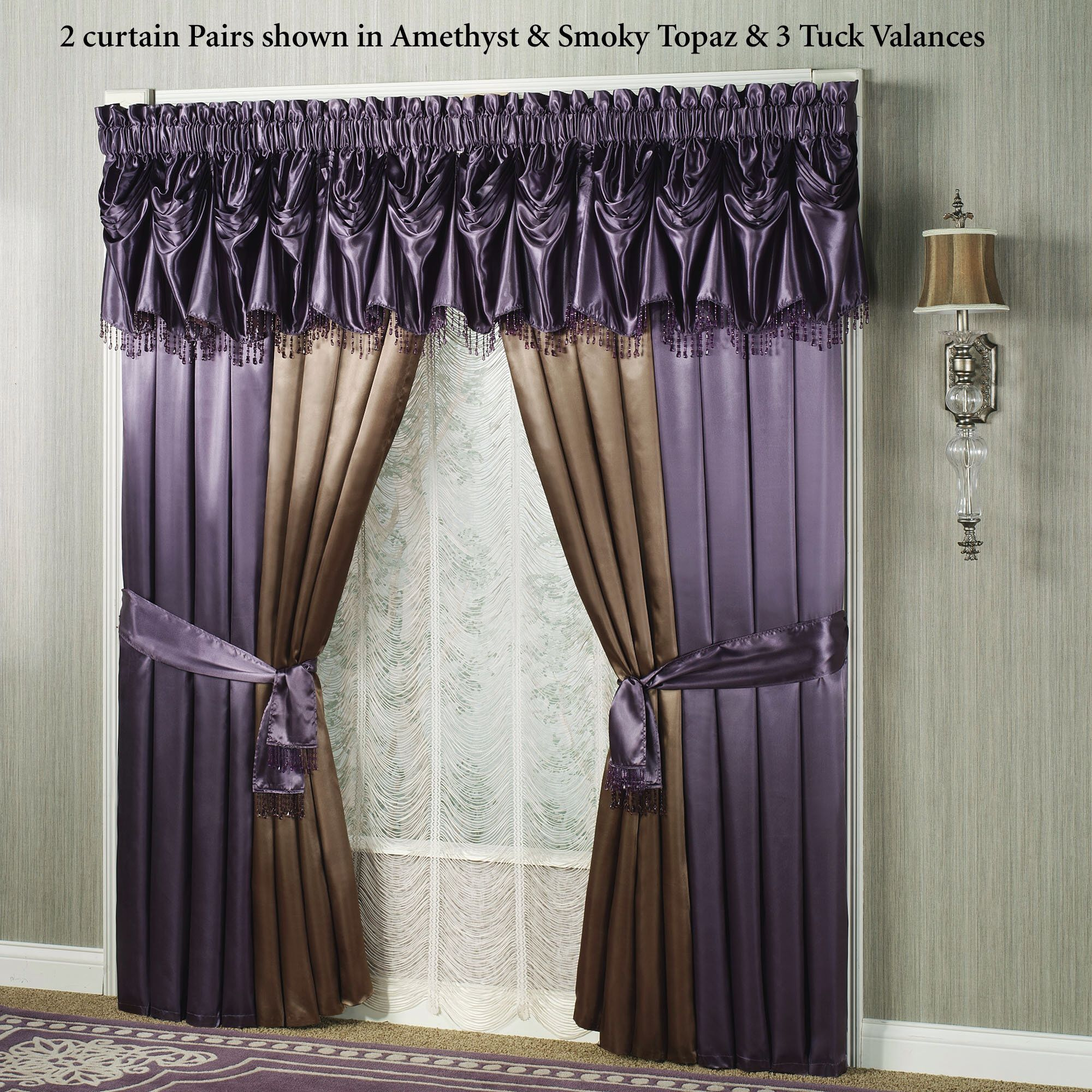Curtains with Sashes