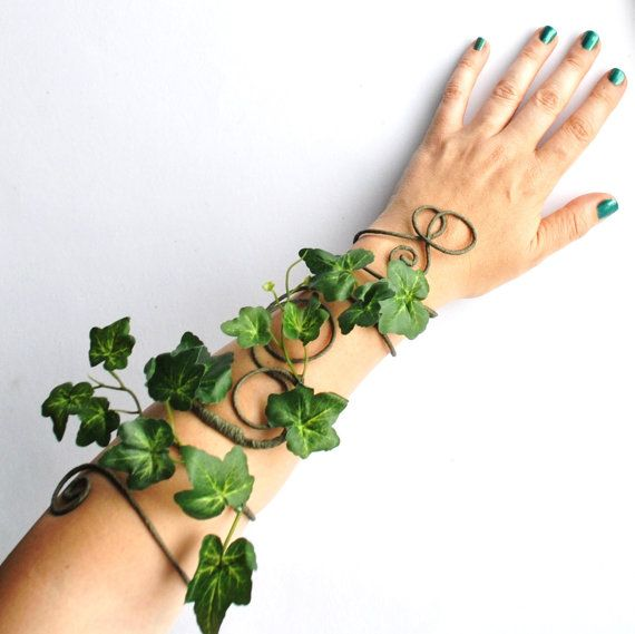 Photo of Poison Ivy Ivy Leaves Long Arm Cuff Wrap Green Wa …