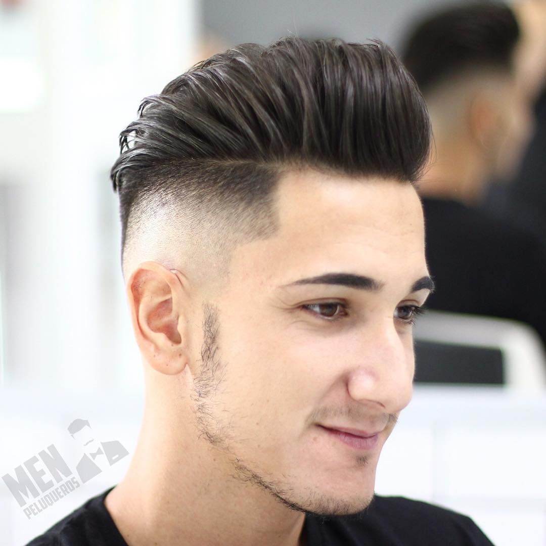 Hairstyles with quiff - Mid Fade With Quiff Hairstyle For Men 2017