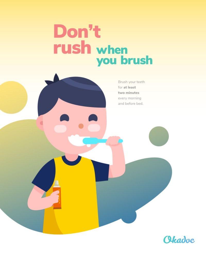 Don T Rush When You Brush Kids Teeth Brush