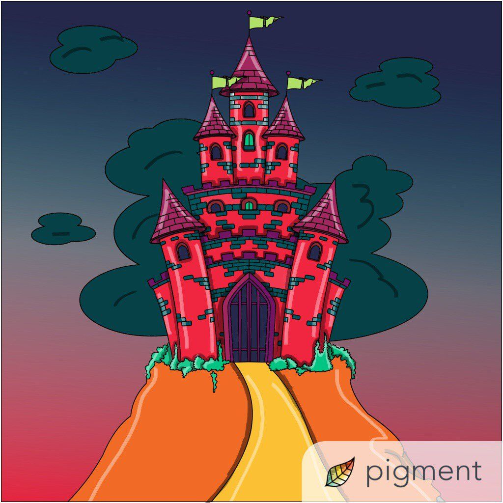 This Castle Page Is From Our New Fantasy Coloring Book Have You Tried The Pigment App Yet Its Best Adult For IPhone