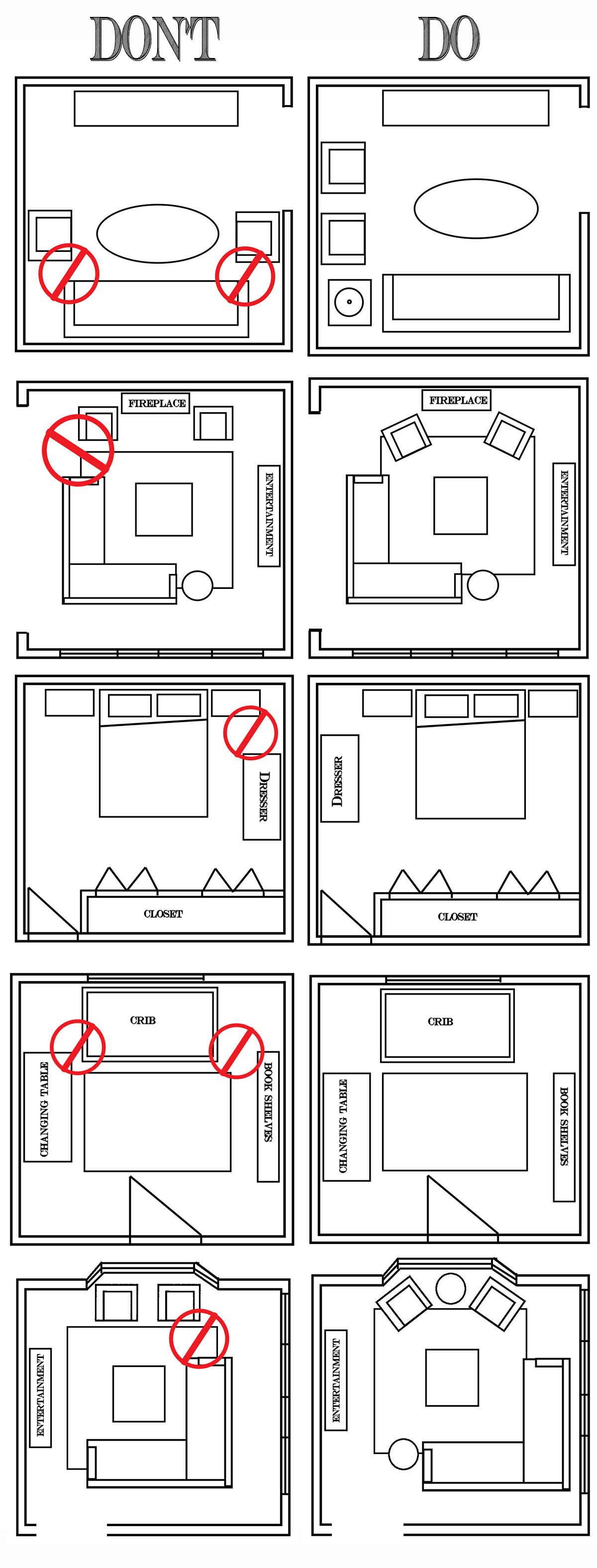 Interior Design Dont Do Diagram Wohnen Innenarchitektur Haus