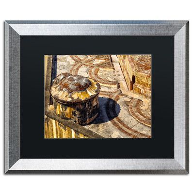 "Trademark Art ""Castillo San Felipe del Morro 18"" by CATeyes Framed Photographic Print Size: 16"" H x 20"" W x 0.5"" D"