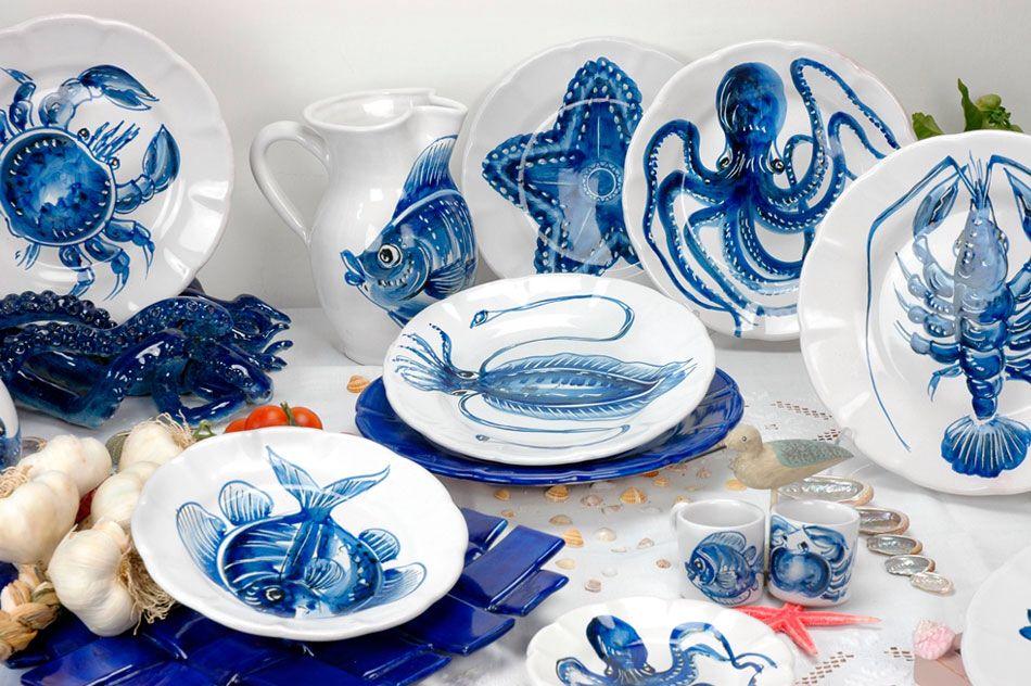 Vietri Sul Mare Ceramic Fish Plate Painted Ceramic Plates Ceramics
