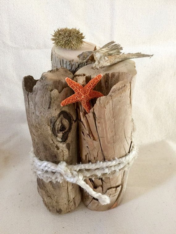 Driftwood nautical centerpiece beach by
