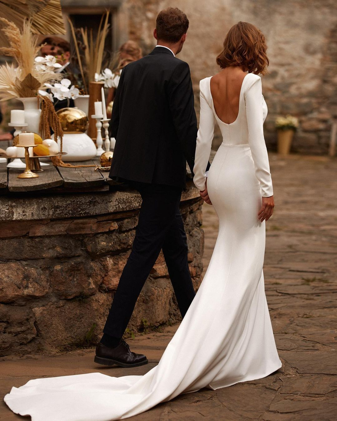 30 Simple Wedding Dresses For Elegant Brides Elegant Wedding Dress Winter Wedding Dress Wedding Dress Long Sleeve [ 1350 x 1080 Pixel ]