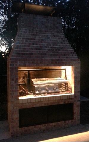 Gaucho Grill Argentine Masonry Insert 38 Outdoor Bbq Outdoor Kitchen Brick Bbq