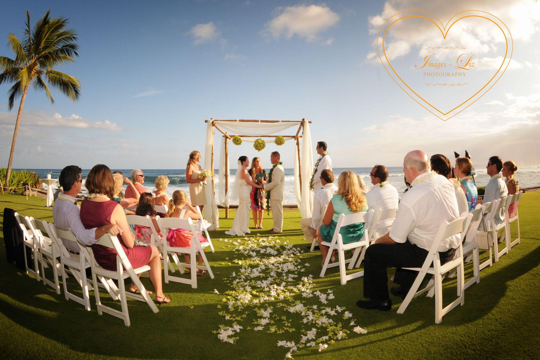 Wedding Ceremony At The Beach House Kauai