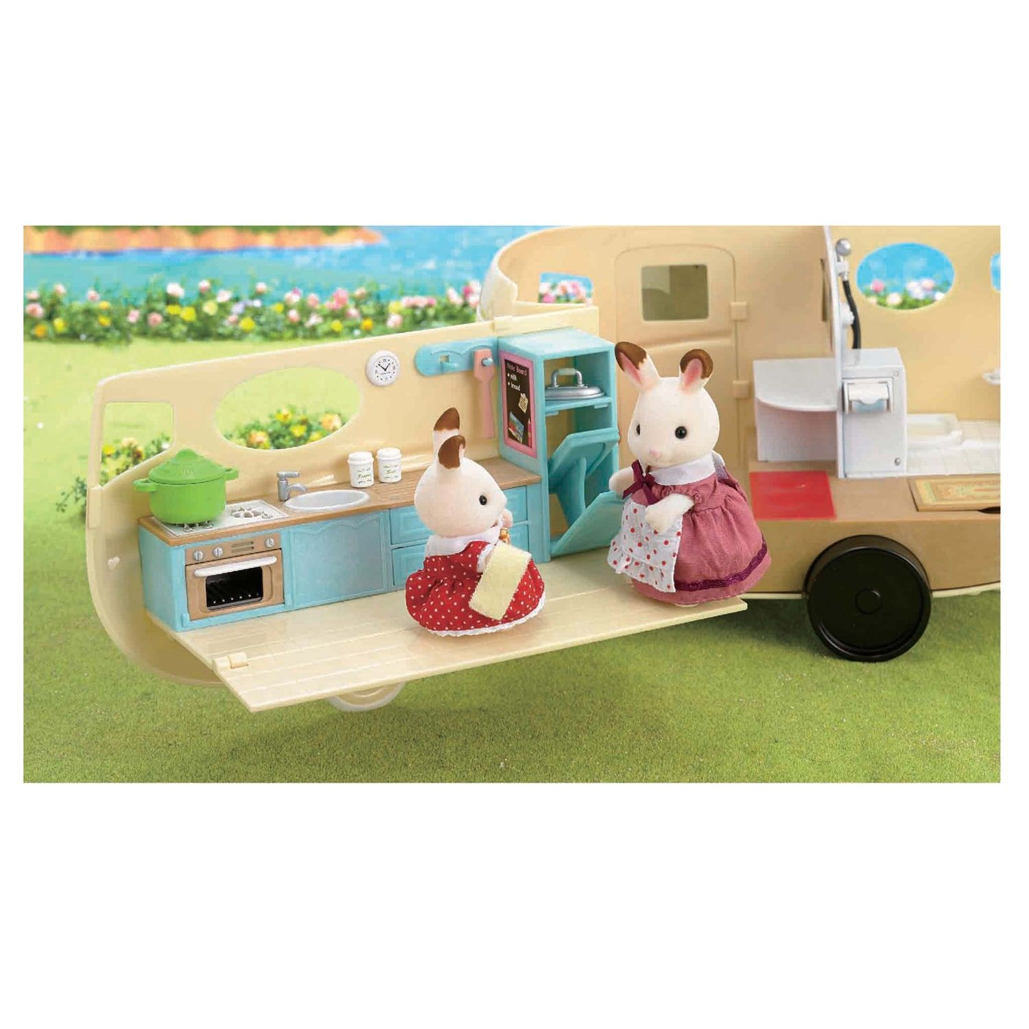 Calico Critters Caravan Family Camper Critters, Calico