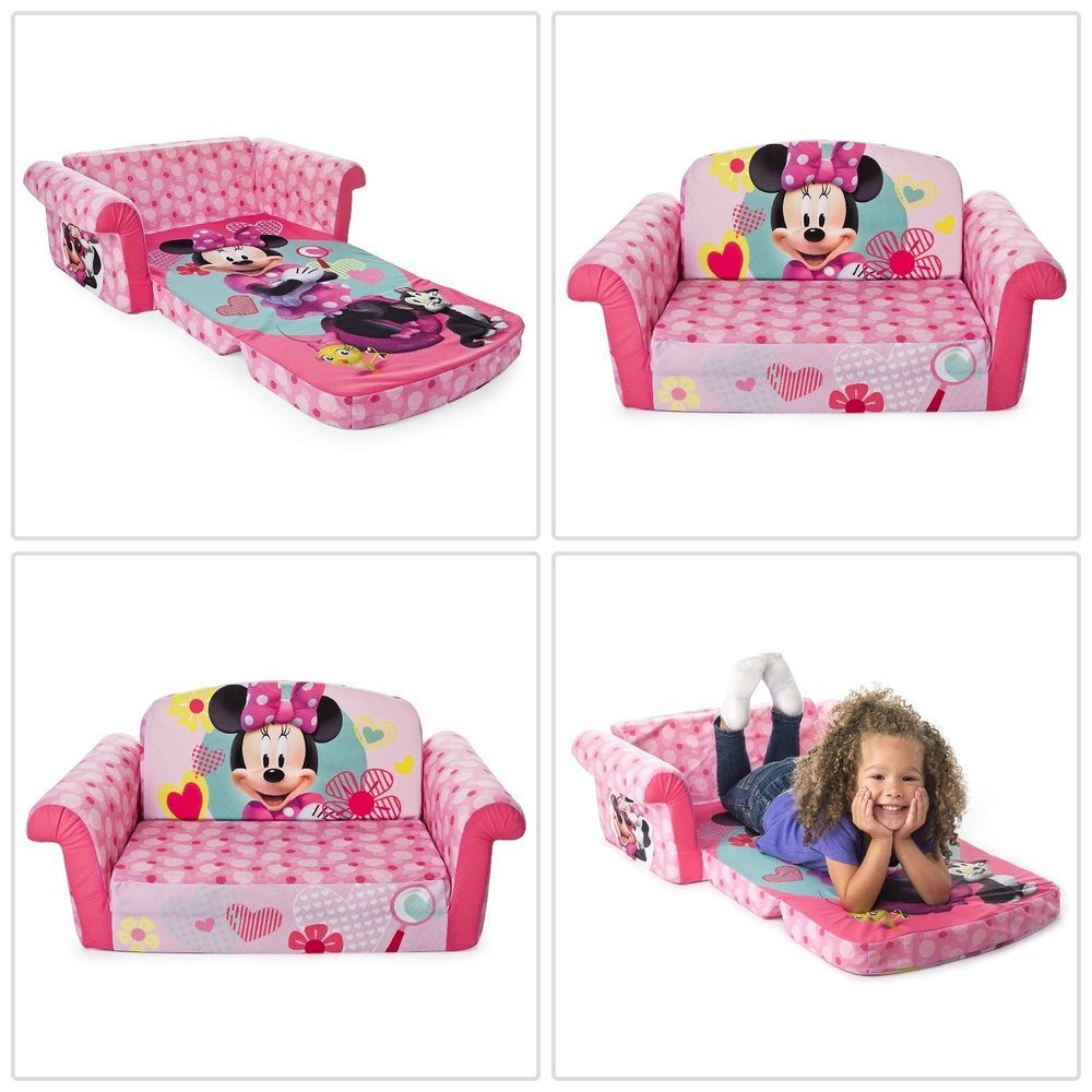 Best Kids Sofa 2 In 1 Bed Toddler Girl Sleeper Minnie Mouse 400 x 300