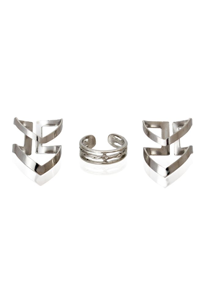 #ring #set #silver #stack #jewelry #baubles #pipabella