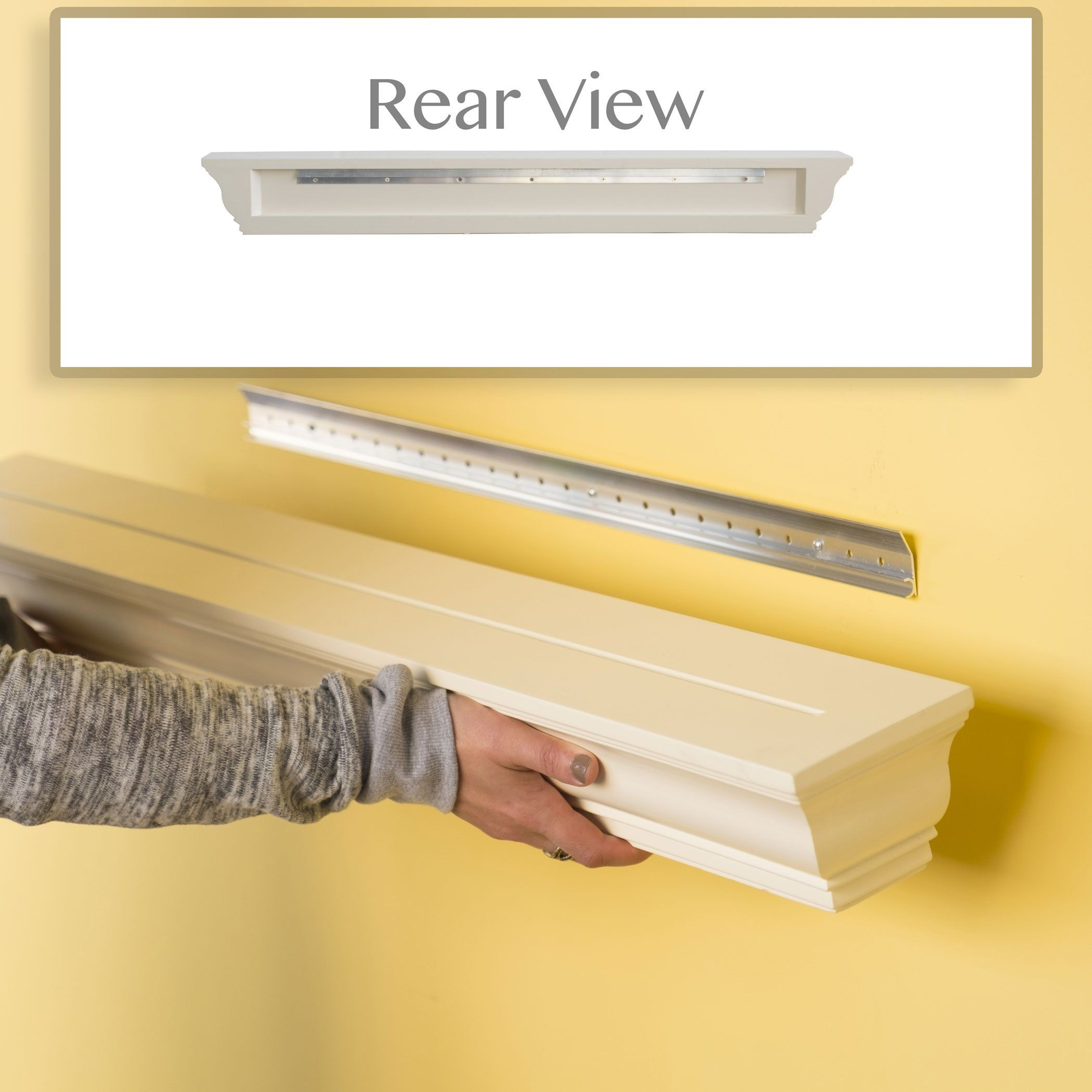 Crown Molding Floating Wall Shelf Decorative Picture Art Photo ...