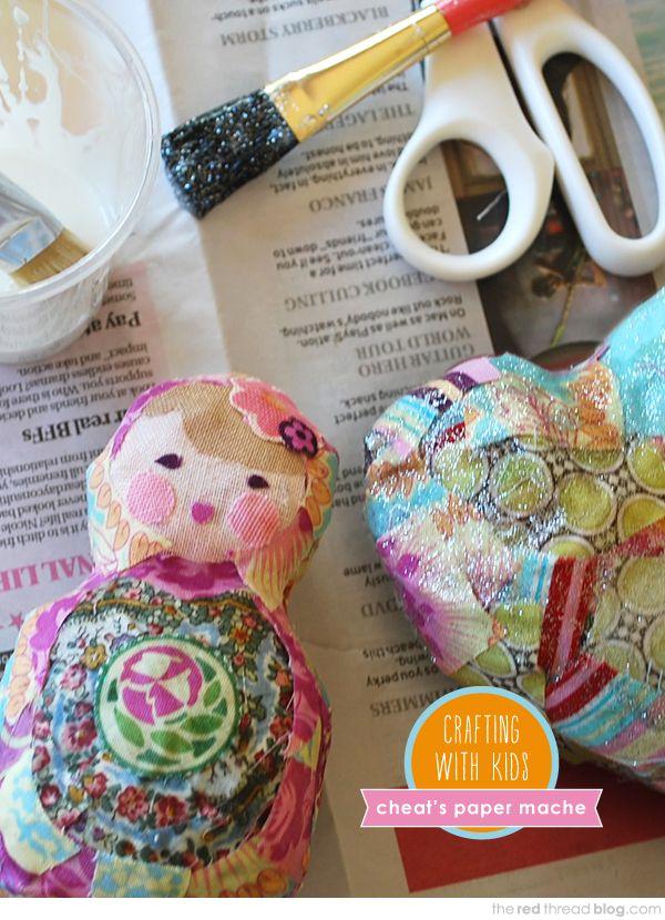Craft with Kids Tutorial :: Cheat's Paper Maché