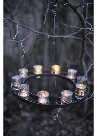 Cute Idea To Glam Up Out Camp Sites And Repel Bugs W Citronella Candles Metal 10 Tea Light Chandelier Citronella Candles Tea Lights Spring Break Camping