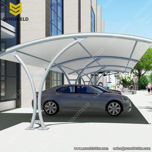 Tension Membrane Carport Steel Carport Fabric Carport Sunshield Shelter Cantilever Carport Carport Designs Car Porch Design