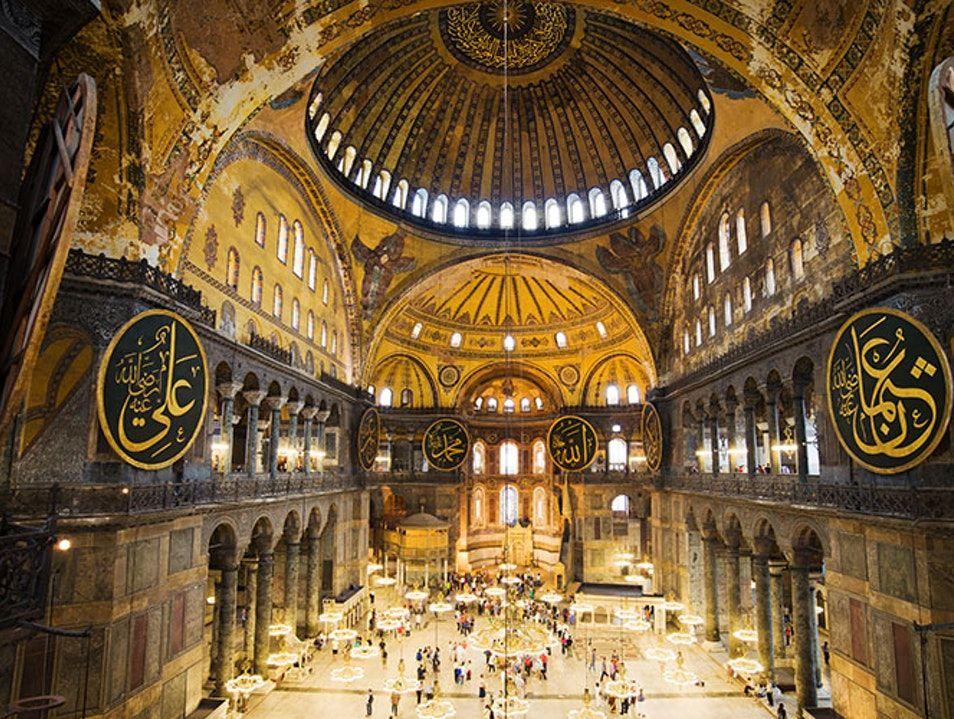 Inside view of Hagia Sophia Mosque, Great Mosque of AyaSofya