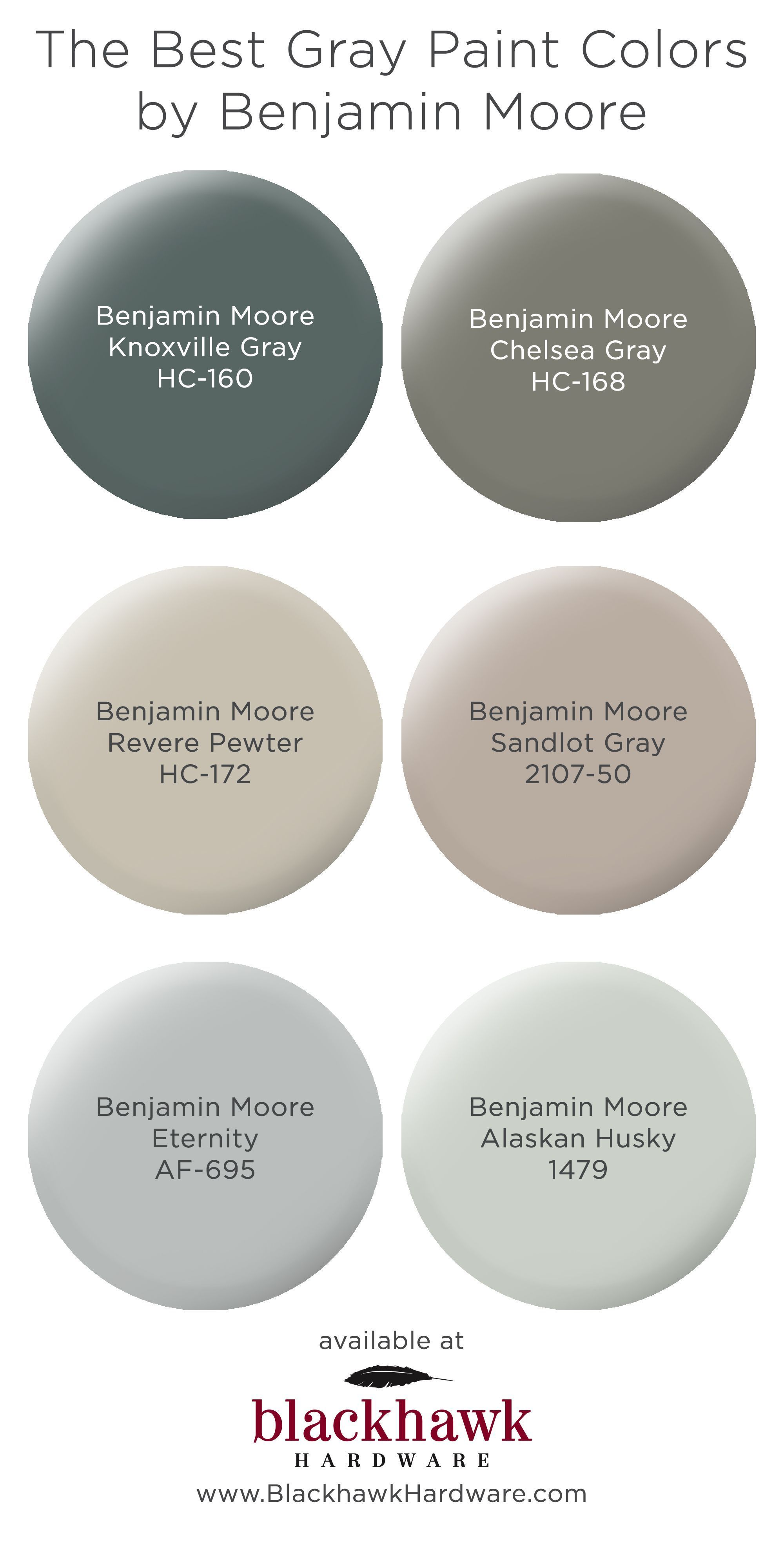The Best Gray Paint Shades By Benjamin Moore In 2020 Best Gray