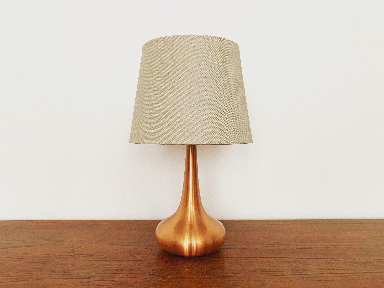 Danish Mid Century Modern Copper Table Lamp By Fog And Morup 1960s In 2020 Kupfertisch Lampentisch 50er Jahre Mobel