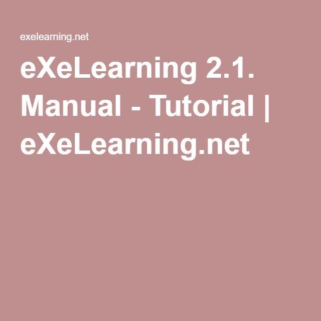 eXeLearning 2 1  Manual - Tutorial | eXeLearning net