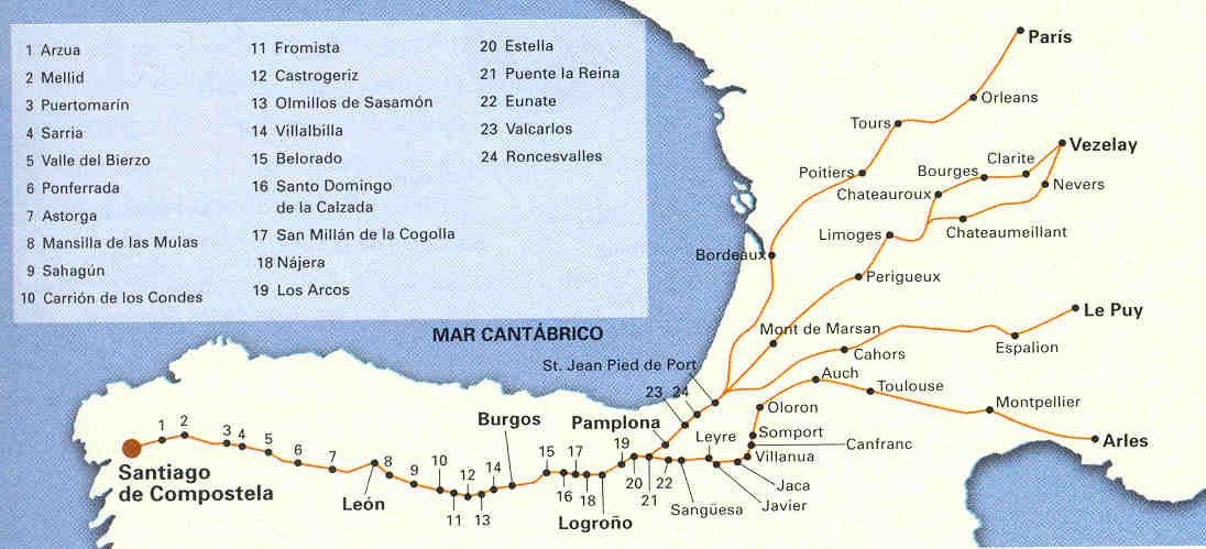 El Camino De Santiago Camping And Hiking Life Holy Land
