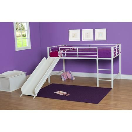Girl Twin Loft Bed With Slide Loft Beds Beds And Girls