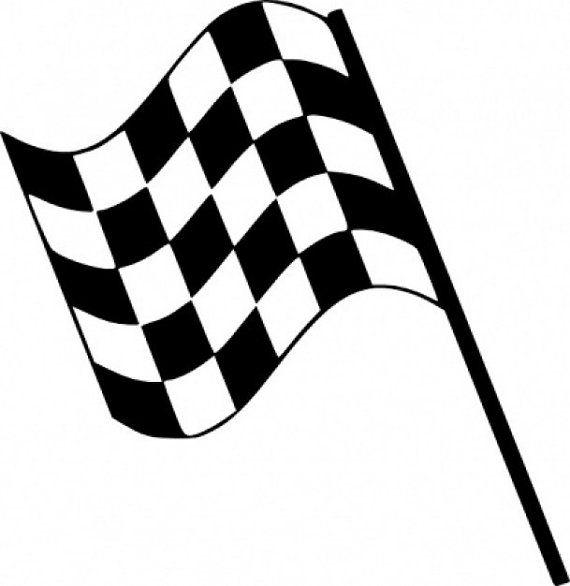 LETS GO RACIN/' CHECKERED FLAG DECAL STICKER WINDOW
