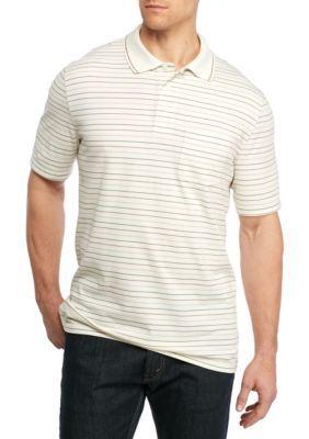 18712fd05aef0 Saddlebred Men s Big   Tall Short Sleeve Stripe Jersey Polo Shirt - White -  3Xl