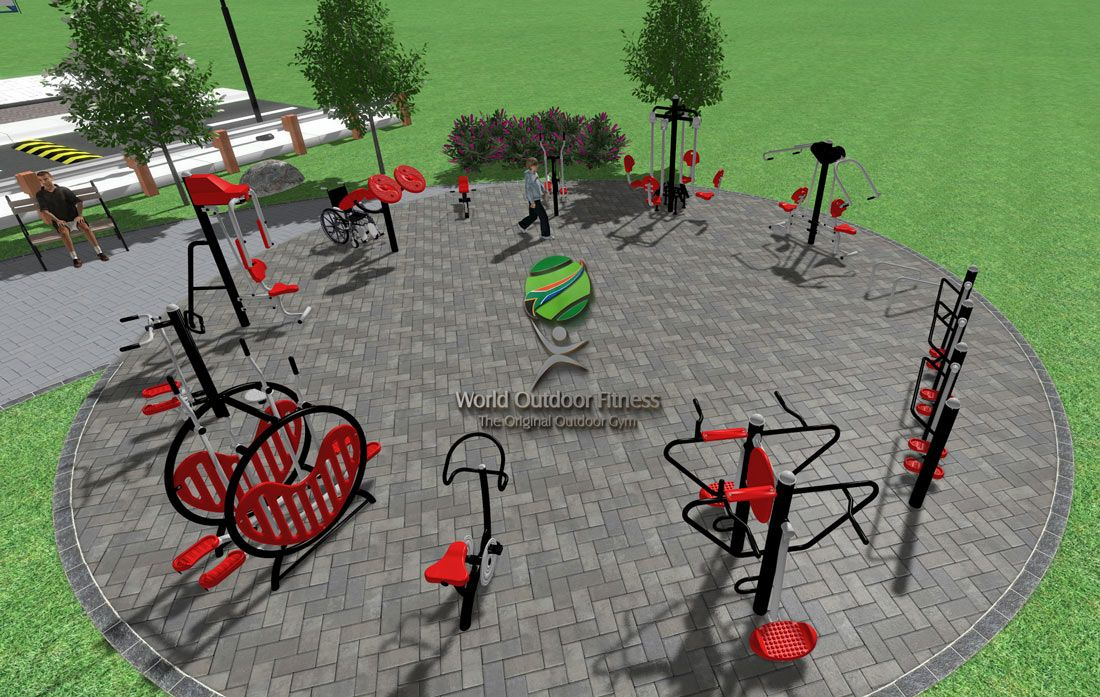 World Outdoor Fitness Is Proud To Offer Powerful And Attractive Steel Outdoor Exercise Stations For Your Outdoor Gym Our W Outdoor Gym Outdoor Parking Design