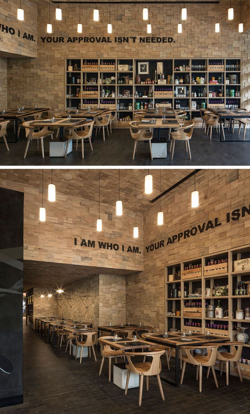 The Walls Of This Restaurant Are Covered In Wood Shingles | Café ...