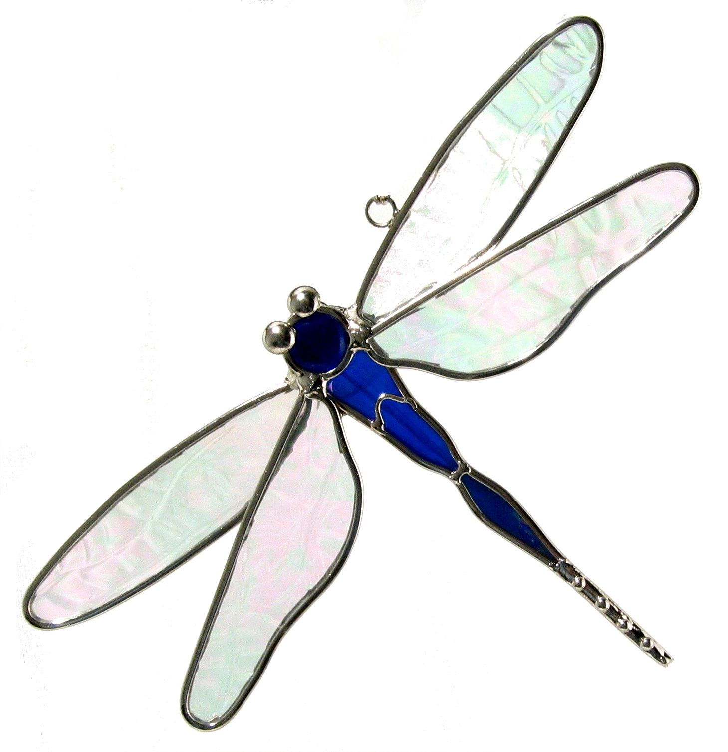 Stained glass dragonfly suncatcher  also available in red or green