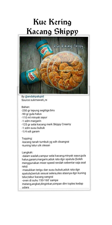 Kue Kacang Skippy Kue Kering Resep Kue Resep Biskuit