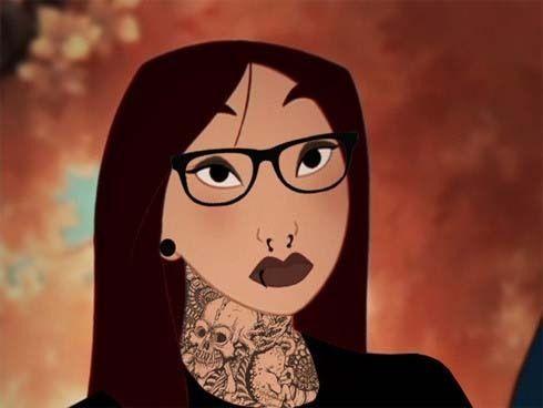 Punk Mulan Disney Princess Tattoo Disney Tattoos Disney Characters Tattoos