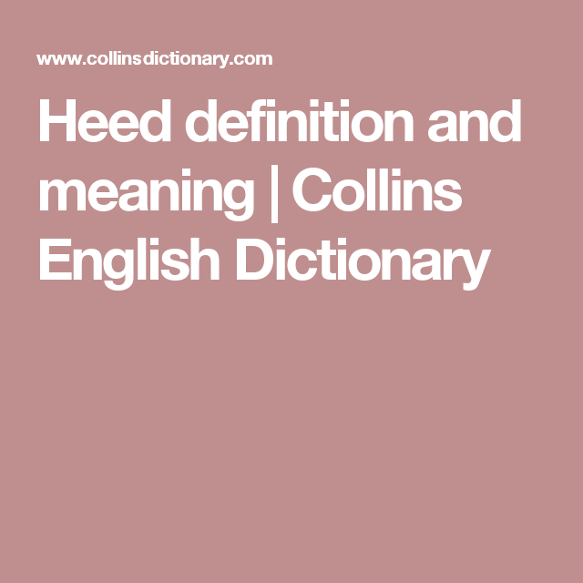 heed definition and meaning collins english dictionary