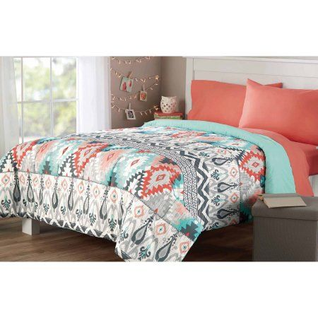 Mainstays Microfiber Bedding Comforter Walmart Com With