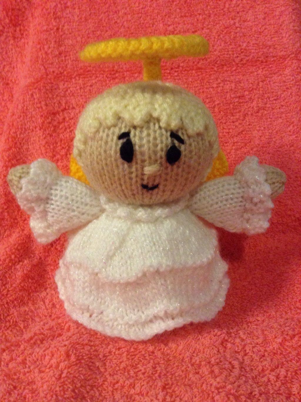 KNITTING PATTERN Angel Robin Chocolate orange cover 15 cms Christmas toy