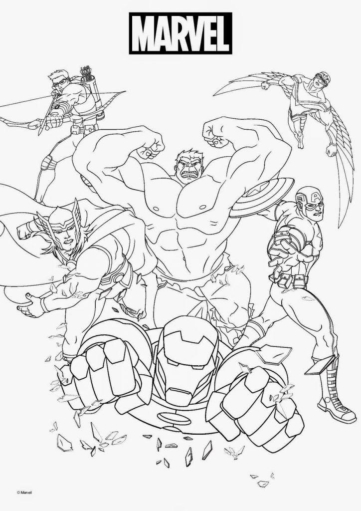 Kleurplaten Marvel Avengers.Marvel Coloring Pages