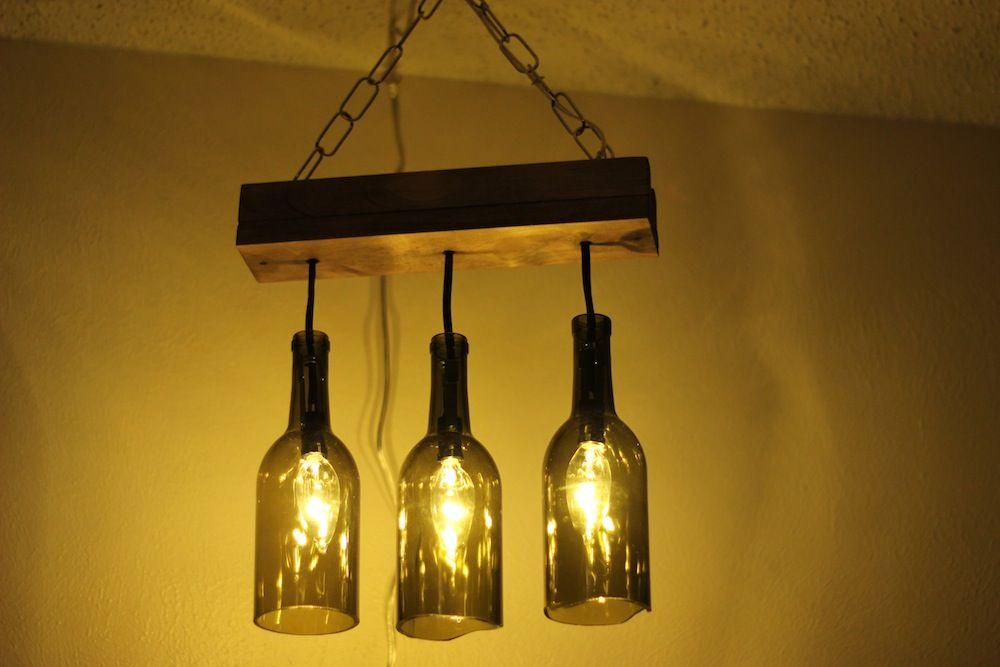 Cómo Hacer Una Lámpara Con Botellas De Cristal Luces De Botella Botellas De Vidrio Lámparas Con Botellas