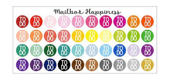 To Do Stickers, Reminder Stickers, Calendar Sticker, Planner Accessories, Erin Condren Planner Sticker, Planner Decor, Planner Organization