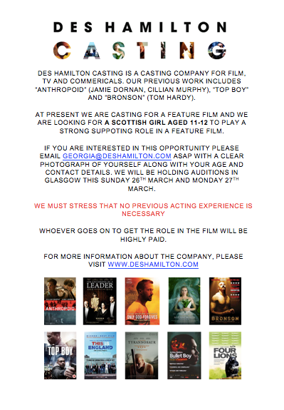 Casting Call MAJOR Feature Film For Supporting Speaking Role