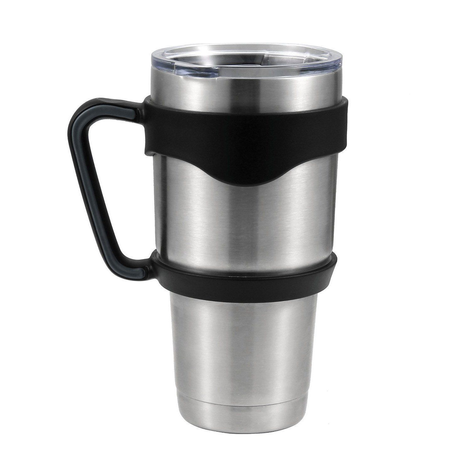 1bf2e5f6ac5 Handle for 30 oz Yeti , Rtic Rambler Tumbler Cooler Handle Vacuum Insulated  Cup Holder Grip to be Mug Accessories,Color Black