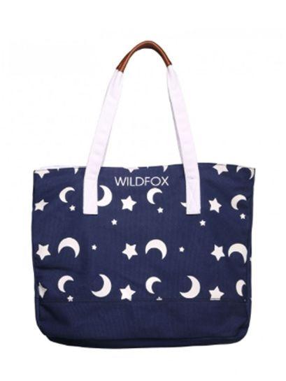 1d6b40300f0c WILDFOX Wildfox Night Owl Tote Bag in Eclipse
