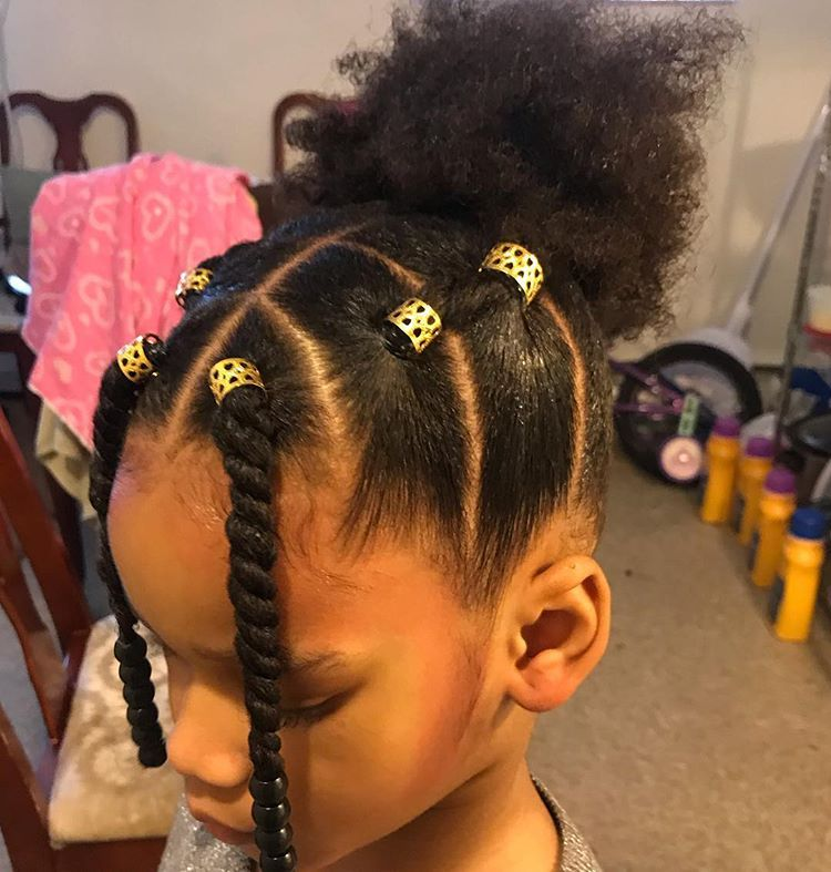 Tbt Naturalkidshairideas Teamnatural Blackgirlmagic Myhaircrushkid Little Girls Ponytail Hairstyles Natural Hairstyles For Kids Kids Hairstyles