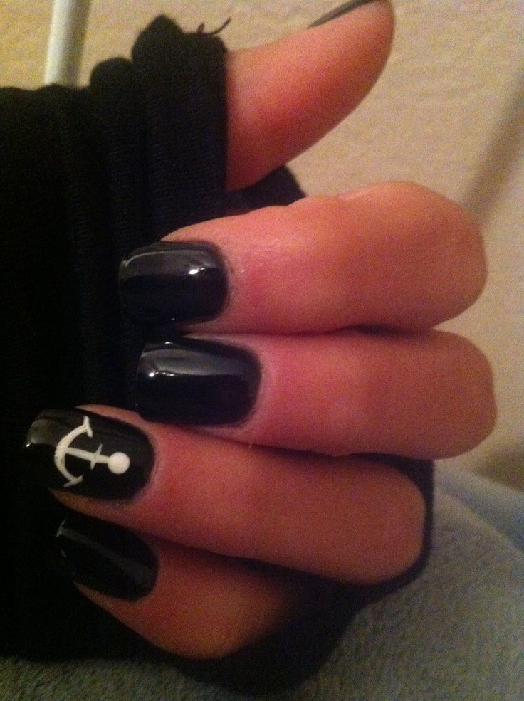 cool My anchor nails from last summer!... | Nail Designs for fake ...